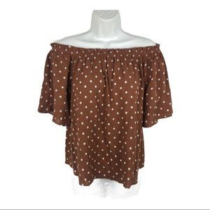Maurices Polka Dot, Off Shoulder, Butterfly Sleeve